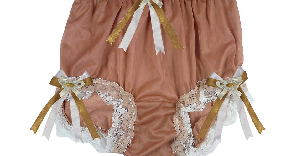 NNH22D21 Fair Brown Handmade Panties Lace Women Men Briefs Nylon Knickers