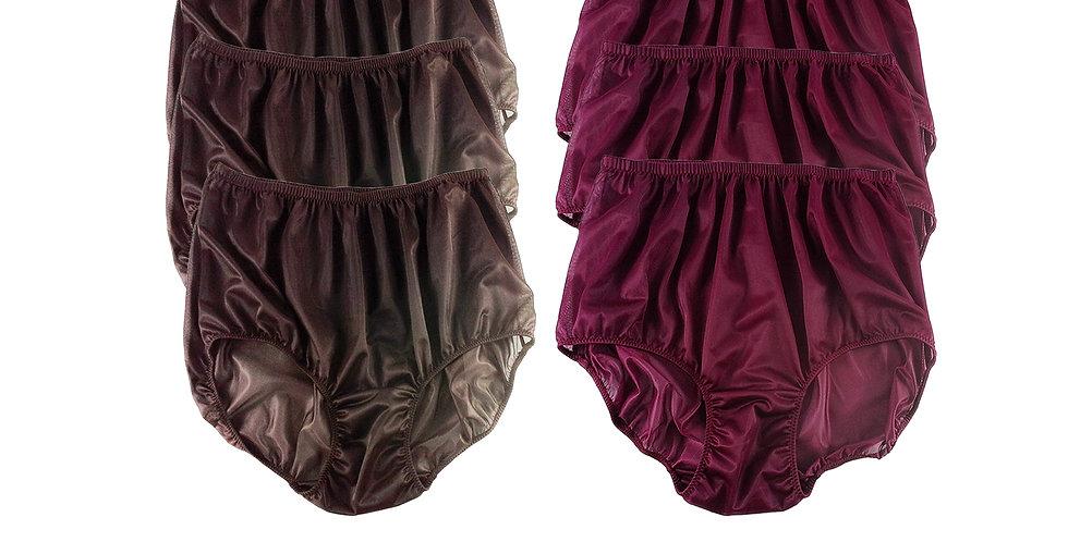 NSD19Lots 6 pcs Wholesale Women New Panties Granny Briefs Nylon Lingerie