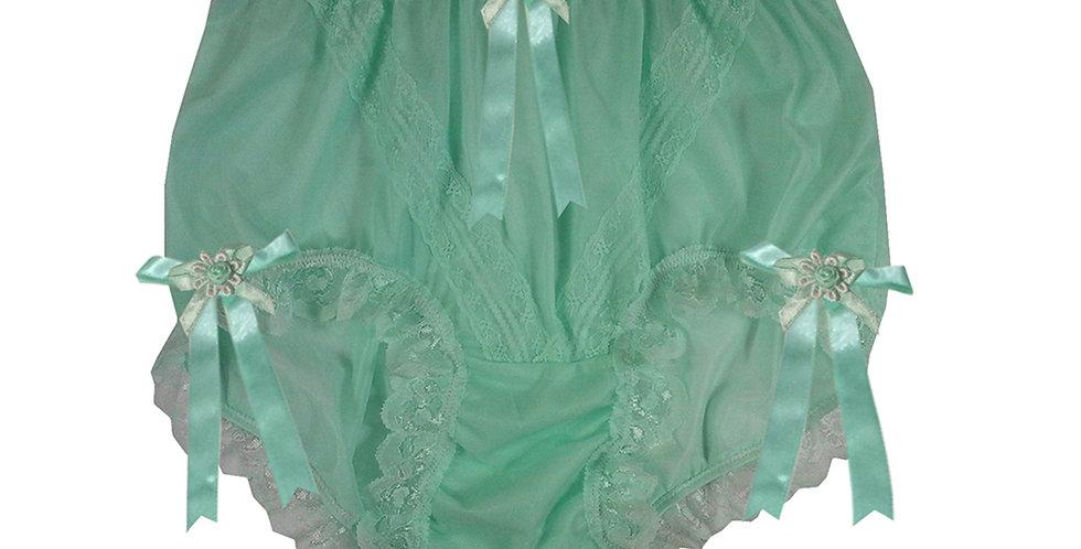 SSH18D01 Green Handmade Nylon Panties Lace Women Granny Men Briefs