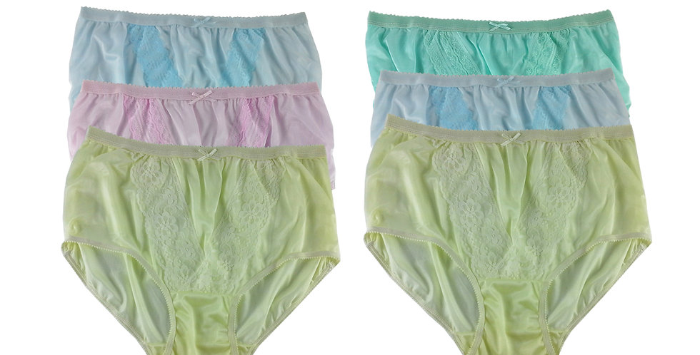 NLSG100 Lots 6 pcs Wholesale New Panties Granny Briefs Nylon Men Women