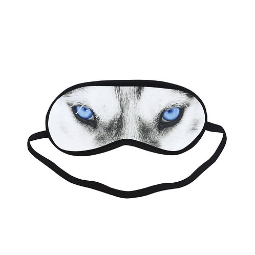 SPM269 Snow Wolf Eye Printed Sleeping Mask