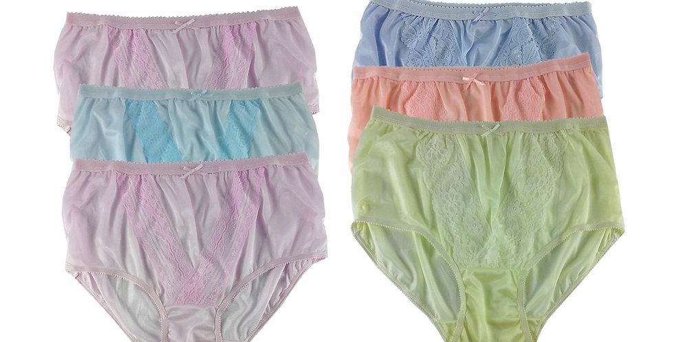 NLSG59 Lots 6 pcs Wholesale New Panties Granny Briefs Nylon Men Women