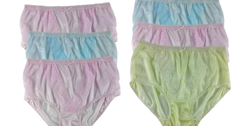NLSG54 Lots 6 pcs Wholesale New Panties Granny Briefs Nylon Men Women