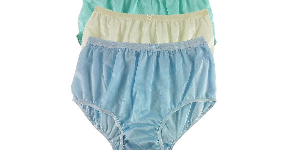 NYTF15 Lots 3 pcs New Panties Wholesale Briefs Silky Nylon Men Women