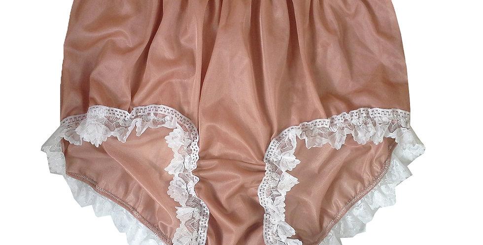 NNH24D06 Fair Brown Handmade Panties Lace Women Men Briefs Nylon Knickers