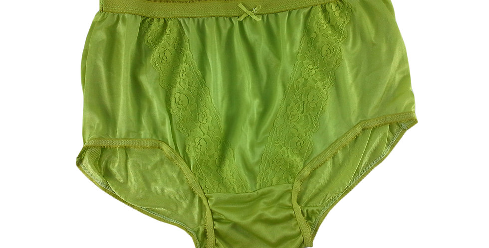 KJ08 Lime Green New Panties Granny Lace Briefs Nylon Underwear Men Women