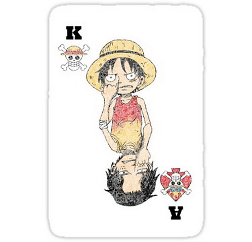 SRBB0567 LUFFY AND ACE CARD One piece anime sticker