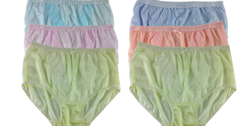 NLSG104 Lots 6 pcs Wholesale New Panties Granny Briefs Nylon Men Women