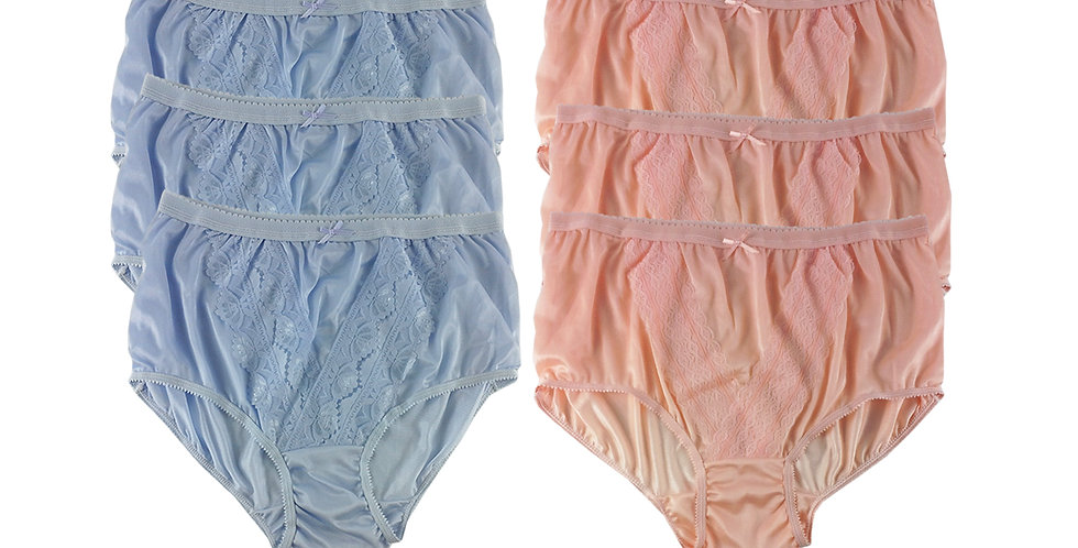 NLSG04 Lots 6 pcs Wholesale New Panties Granny Briefs Nylon Men Women