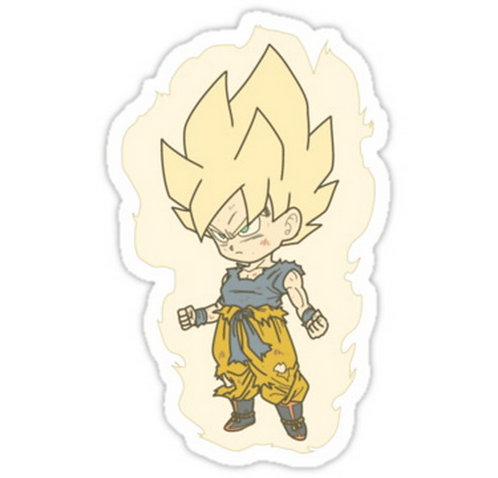 copy of SRBB0577 Super Goku Dragon Ball Z anime sticker