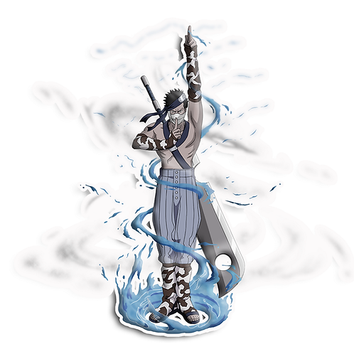 NRT571 Zabuza  Seven Ninja Swordsmen of the Mist Naruto anime sticker Ca