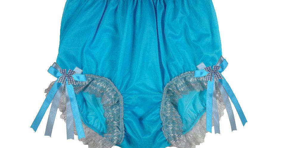NNH17D05 light blue Handmade Panties Lace Women Men Briefs Nylon Knickers