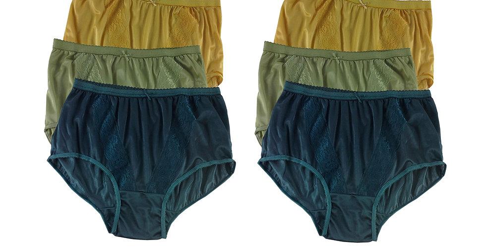 KJSJ65 Lots 6 pcs Wholesale New Panties Granny Briefs Nylon Men Women