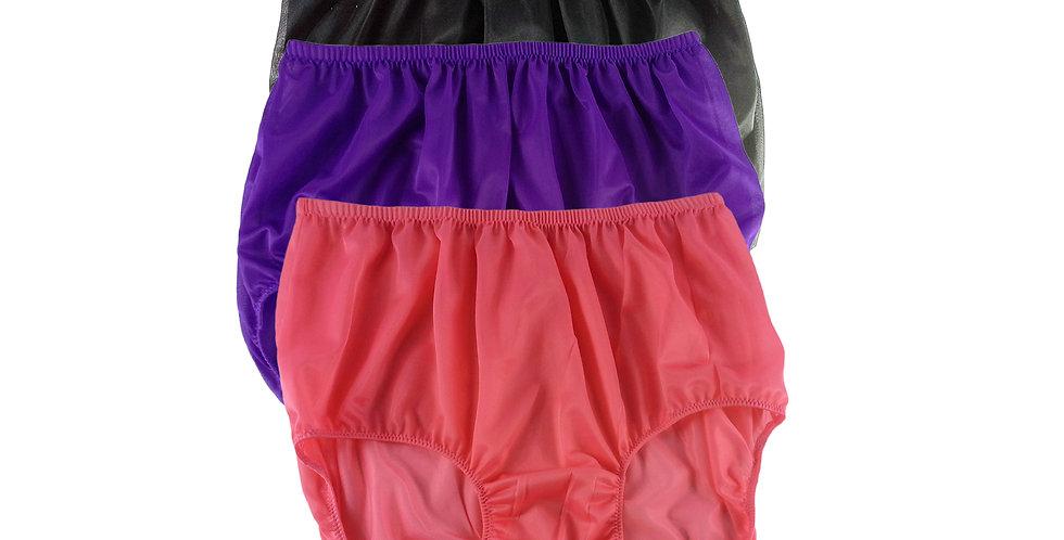 A89 Lots 3 pcs Wholesale Women New Panties Granny Briefs Nylon Knickers
