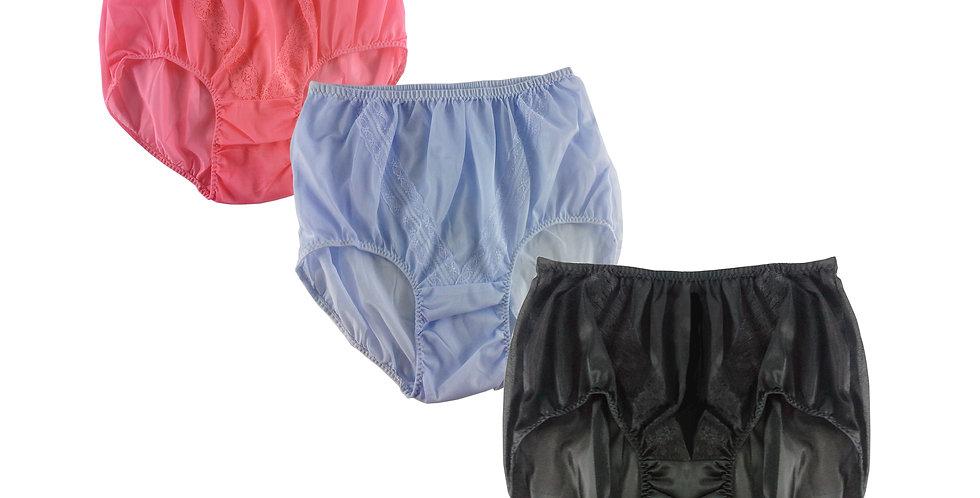 SSTM05 Lots 3 pcs Wholesale New Nylon Panties Lace Women Men Briefs