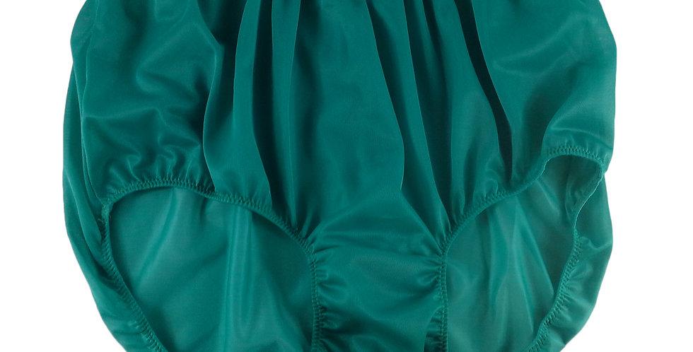 NN05 Green Women Vintage Panties Granny HI-CUTS Briefs  Nylon Knickers