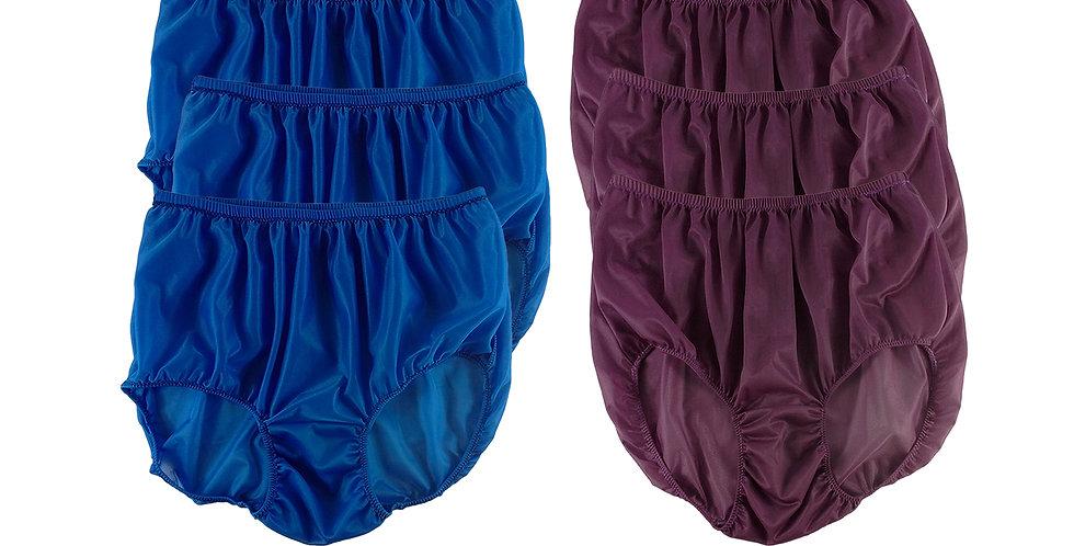 NSD101Lots 6 pcs Wholesale Women New Panties Granny Briefs Nylon Lingerie