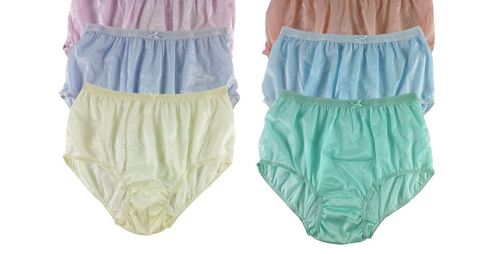 NYSE15 Lots 6 pcs New Panties Wholesale Briefs Silky Nylon Men Women