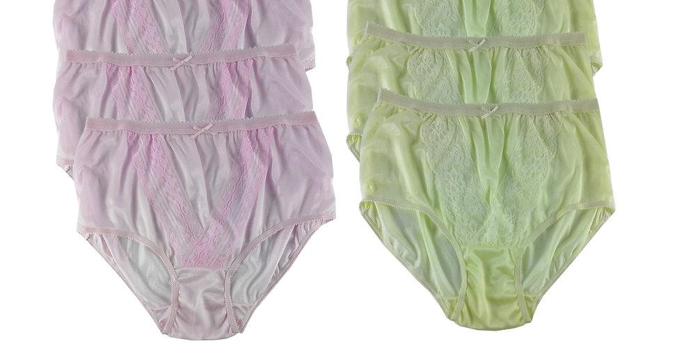 NLSG14 Lots 6 pcs Wholesale New Panties Granny Briefs Nylon Men Women