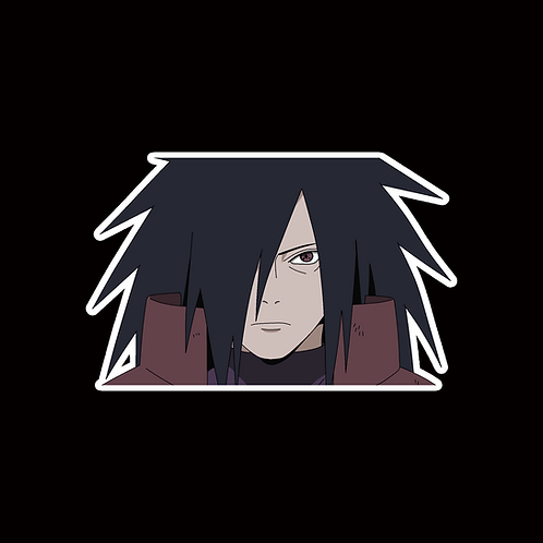 NOR214 Madara uchiha Naruto Peeking anime sticker Car Decal Vinyl Window