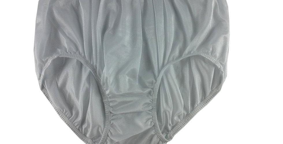 NQ07 White New Panties Granny Briefs Nylon Underwear Men Women