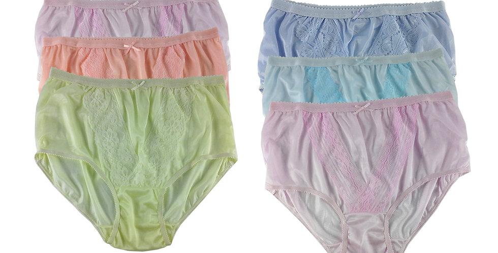 NLSG95 Lots 6 pcs Wholesale New Panties Granny Briefs Nylon Men Women