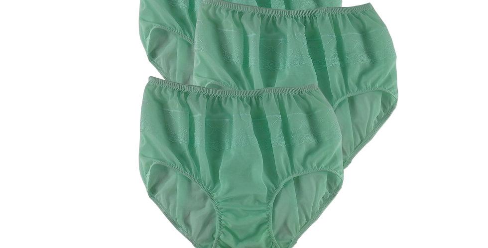 JYL FAIR GREEN Lots 3 pcs Wholesale Nylon Panties Women Men Floral Briefs
