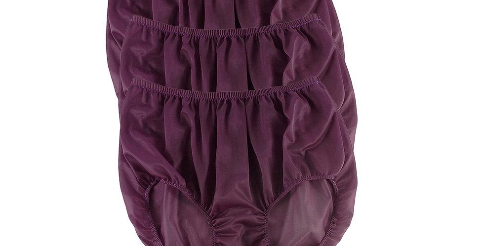B10 Red-Violet Lots 3 pcs Wholesale Women New Panties Granny Briefs Nylon