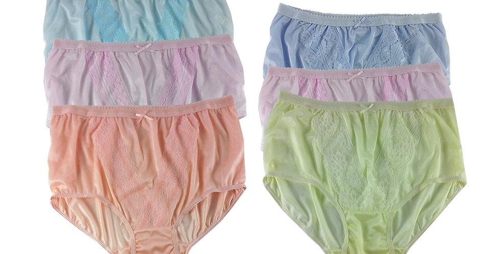 NLSG130 Lots 6 pcs Wholesale New Panties Granny Briefs Nylon Men Women