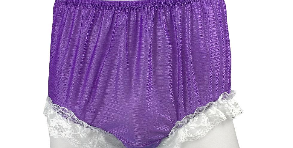 SFH01D11 Purple Shiny Nylon New Panties Women Men Handade Briefs