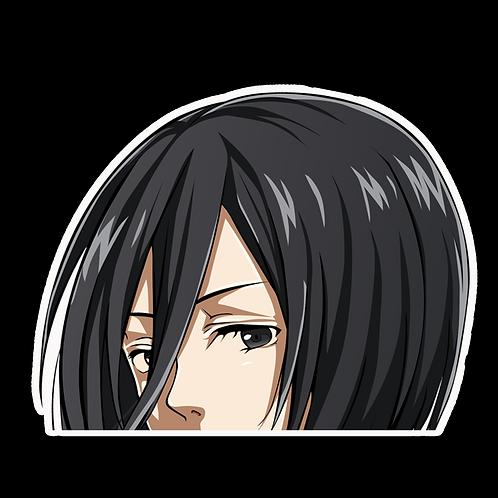 Peeker Anime Peeking Sticker Car Window Decal MKS002 Mikasa AoT