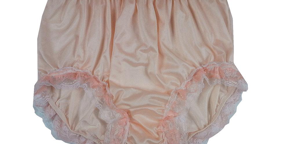 NQH05D08 Orange New Panties Granny Briefs Nylon Handmade Lace Men