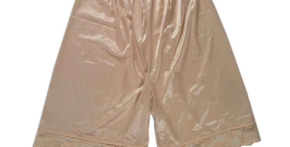 PTP03 Brown Silky Nylon Pettipants Women Men Slips Lace Lingerie