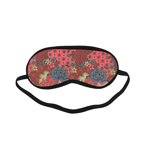 PTEM388B Red Fractal abstract floral design Eye Printed Sleeping Mas