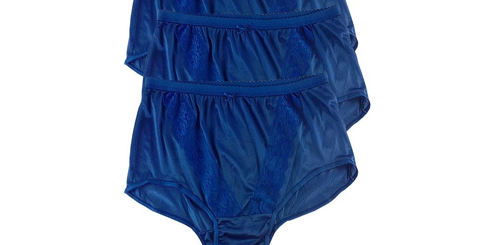 KJT NAVY BLUE Lots 3 pcs Wholesale Panties Granny Lace Briefs Nylon Men Woman