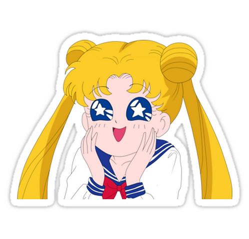 Usagi Tsukino  SSLM009 Cartoon Anime Car Window Decal Sticker