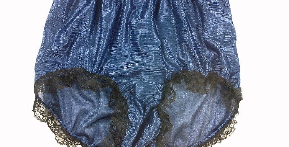 SFH08D11 Navy Blue Shiny Nylon New Panties Women Men Handade Briefs