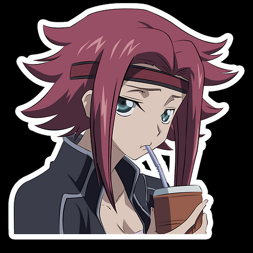 Anime Peeking Sticker Car Decal PKN86 Kallen KozukiKallen Stadtfeld Code Geass