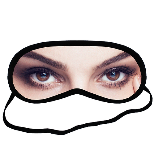 EYM447 Natalie Portman Eye Printed Sleeping Mask