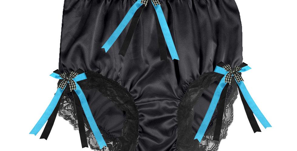 STPH18D06 Black New Satin Panties Women Men Briefs Knickers