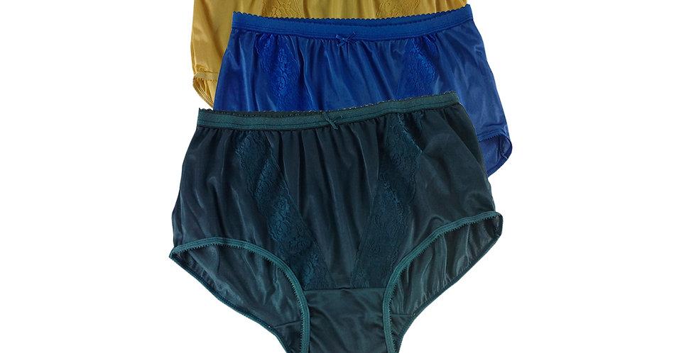 KJTK03 Lots 3 pcs Wholesale Panties Granny Lace Briefs Nylon Men Woman