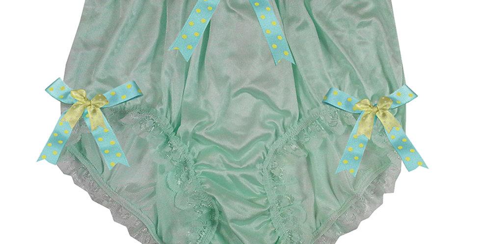 NQH18D09 Green New Panties Granny Briefs Nylon Handmade Lace Men