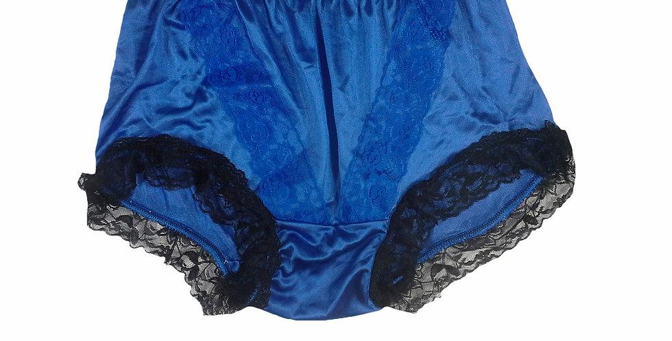 NLH07D09 Blue Panties Granny Lace Briefs Nylon Handmade  Men W0man