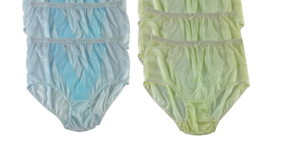 NLSG12 Lots 6 pcs Wholesale New Panties Granny Briefs Nylon Men Women