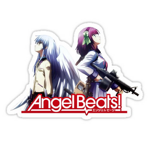 SRBB0616 Kanade and Yuri Angel Beats anime sticker