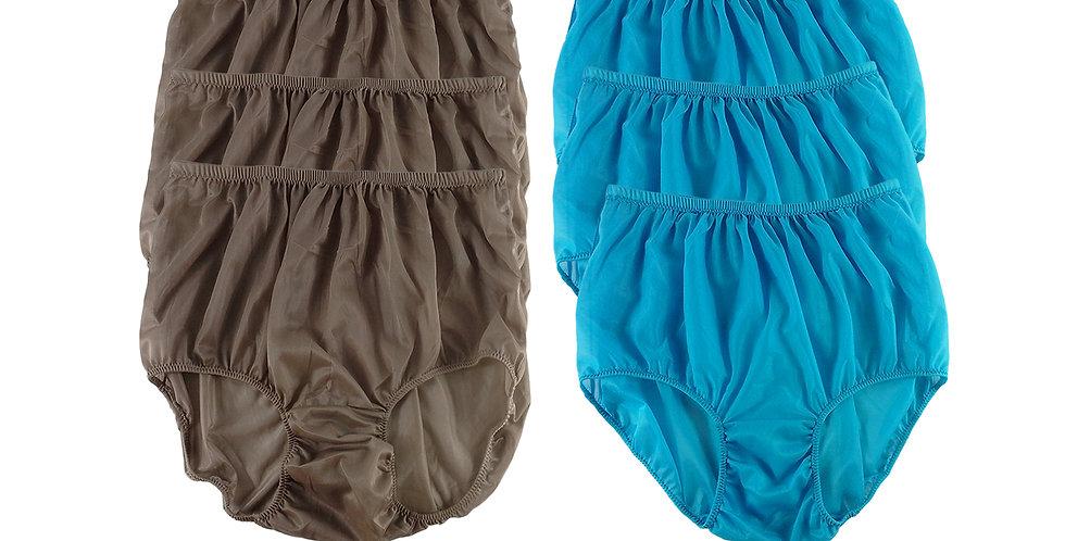 NSD98Lots 6 pcs Wholesale Women New Panties Granny Briefs Nylon Lingerie