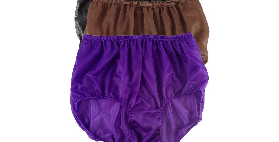 A94 Lots 3 pcs Wholesale Women New Panties Granny Briefs Nylon Knickers