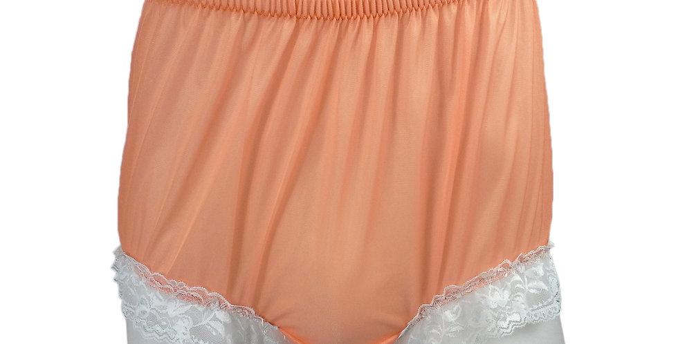 NH01D01 Orange Handmade Panties Lace Women Men Briefs Nylon Knickers Undies