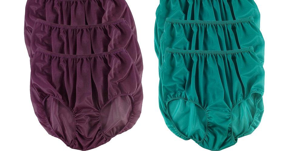 NSD114Lots 6 pcs Wholesale Women New Panties Granny Briefs Nylon Lingerie