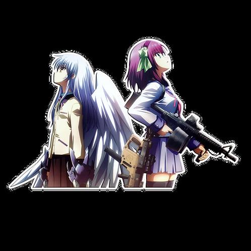 Anime Sticker Car Window Decal SAGB003 Angel Beats Kaede Tachibana Yurippe Oton